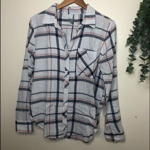 Aerie Button Down Plaid Shirt